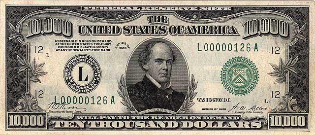 photo  salmon on the  10000 bill