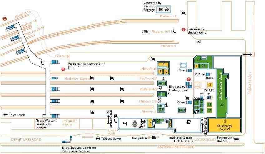Paddington Station Map Uptowncritters